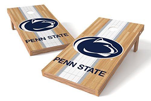 Wild Sports NCAA College Penn State Nittany Lions 2' x 4' Hardwood Authentic Cornhole Game - Nittany Lions Bean Collegiate Bag