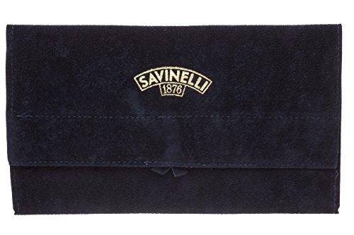 - Savinelli Velvet Tobacco Pipe Pouch - Blue