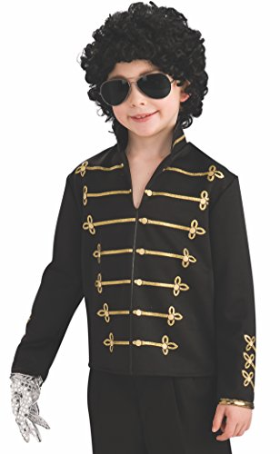 Michael Jackson Child's Value Military Jacket Costume Accessory, Large, Black ()