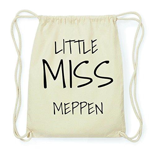 JOllify MEPPEN Hipster Turnbeutel Tasche Rucksack aus Baumwolle - Farbe: natur Design: Little Miss Whlfa