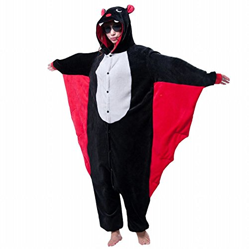 [Naray Unisex Adult Animal Costume Onesie Sleepwear Bat Anime Cosplay Pajamas] (Easy Halloween Costume To Wear To Work)