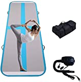 Tuexdo Sailor 3ft/10ft/13ft/20ft Inflatable Air Track, Tumble Track air Mat, Gymnastics Airtrack Training/Home Use/Cheerleading/Yoga/Water with Electric Pump