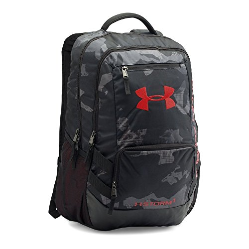 Under Armour Hustle 2.0 Backpack, Black (002)/Red, One Size