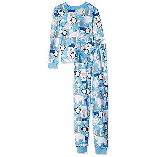 gymboree big girls 2 piece cotton pajama set blue 3