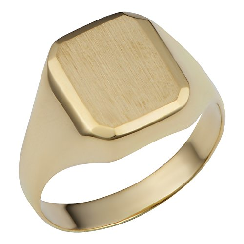 14k Yellow Gold 12.7mm Rectangular Signet Ring (size 6) 14k Signet Mens Ring