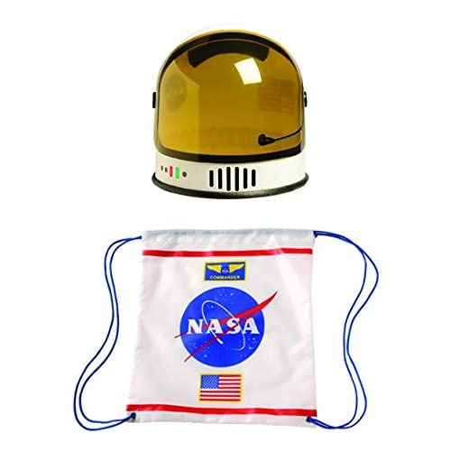 Aeromax Youth Astronaut Helmet and Astronaut Drawstring Backpack (2 Piece Bundle) for cheap YPFgbsnb