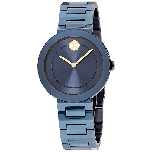 Bold Blue Dial Stainless Steel Ladies Watch - Movado 3600499