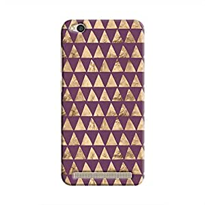 Cover It Up - Brown Purple Triangle Tile Redmi 5A Hard Case