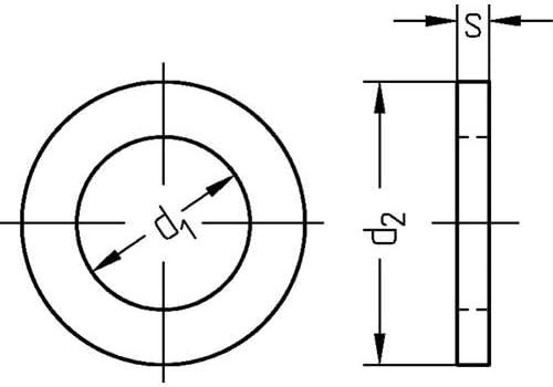 10/pieza espaciadores 17/x 24/x 0.2/mm din 988/Pass Discos de equilibrio de arandelas para Espaciador