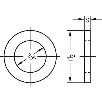 10 St/ück Distanzscheiben 18 x 25 x 0.5 mm DIN 988 Passscheiben Unterlegscheiben Ausgleichscheiben Distanzscheibe