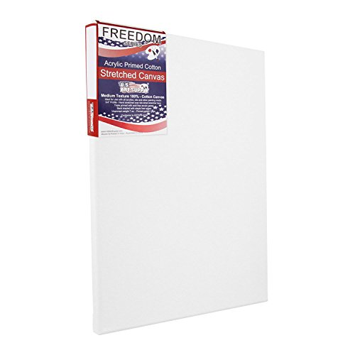 US Art Supply 12 X 16 inch Professional Quality Acid Free Stretched Canvas 6-Pack - 3/4 Profile 12 Ounce Primed Gesso - (1 Full Case of 6 Single Canvases)