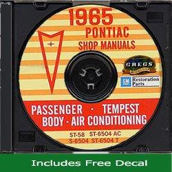 1965 PONTIAC FACTORY REPAIR SHOP & SERVICE MANUAL & FISHER BODY MANUAL CD Bonneville, Catalina, GTO, Tempest, Tempest Custom, Tempest LeMans, Executive, Grand Prix, Safari, Firebird, Sprint, H.O. & 400 (includes convertibles & wagons)