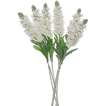 Amazon lily garden set of 6 stems 32 artificial antirrhinum lily garden set of 6 stems 32 artificial antirrhinum snapdragon silk flowers white mightylinksfo