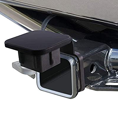 Dorhea Trailer Hitch Tube Cover 2'' Rubber Hitch Tube Cover Plug Cap Insert 2 inch Receivers Class 3 4 5 for Dodge Ram Porsche Benz Toyota Ford Jeep Chevrolet Nissan ATV UTV Polaris - Black: Automotive