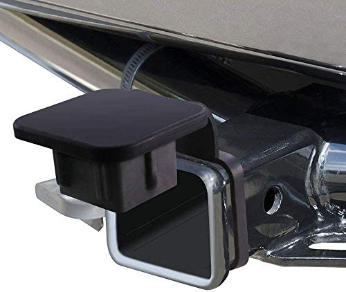 TOOGOO 2 Inch Trailer Hitch Cover Plug Cap Rubber Fits 2 Inch Receivers Class 3 4 5 for Toyota Ford Jeep Chevrolet Nissan Dodge Ram Porsche Mercedes Benz Polaris Ranger ATV Utv Polaris