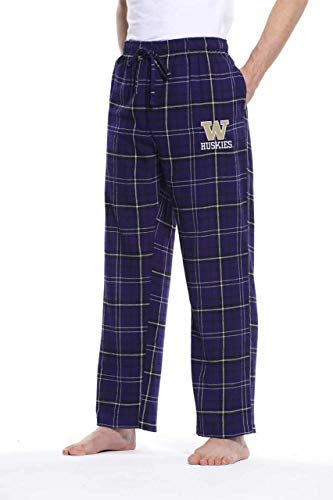 Concept Sport Washington Huskies Adult NCAA Team Pride Flannel Lounge Pants - Team Color, X-Large from Concept Sport