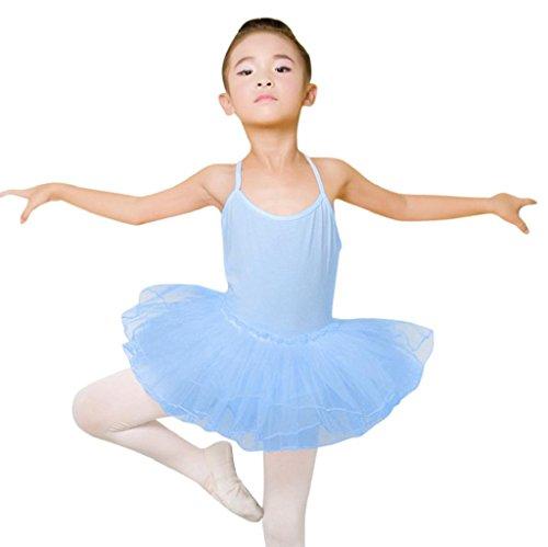 bfdfac5af3f20 1-7 Years Old Girls,Yamally_9R Toddler Girls Ballet Dress Leotard Dance  Skirt Gymnastics Strap Dancewear Clothes (4T, Light Blue)