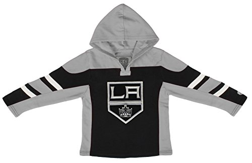 (Old Time Hockey NHL Los Angeles Kings Youth Drift Pullover Hoodie, Large, Black)