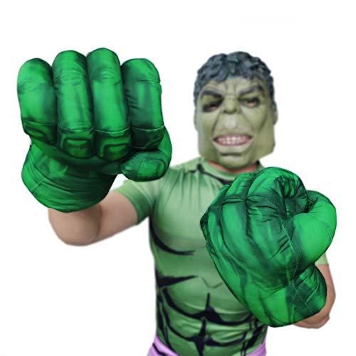 Hulk Smash Hands Gloves for Kids Hulk Cosplay Costume Accessories Hulk Hands Toys (Green) -