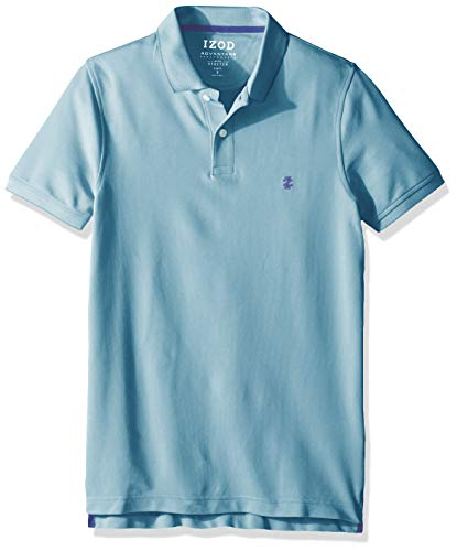 IZOD Men's Slim Fit Advantage Performance Short Sleeve Solid Polo, Caneel Bay, XX-Large ()