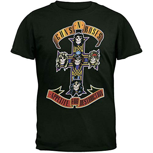 Guns N Roses - Cross T-Shirt - Medium Black