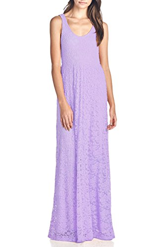 Lace Dress Women's Lavender Length Long Sleeveless Beachcoco w6TW1PqI