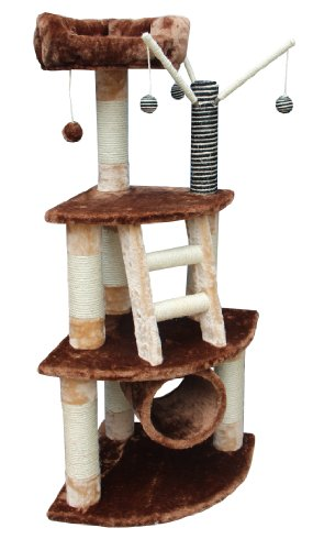 Kitty Mansions Athens Cat Tree, Brown/Beige, My Pet Supplies
