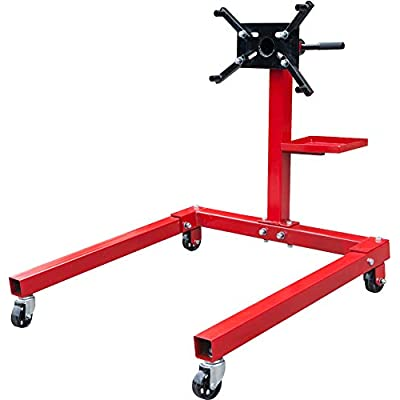 BIG RED T25671 Torin Steel Rotating Engine Stand with 360 Degree Rotating Head and Tool Storage Tray: 5/8 Ton (1,250 lb) Capacity: Automotive