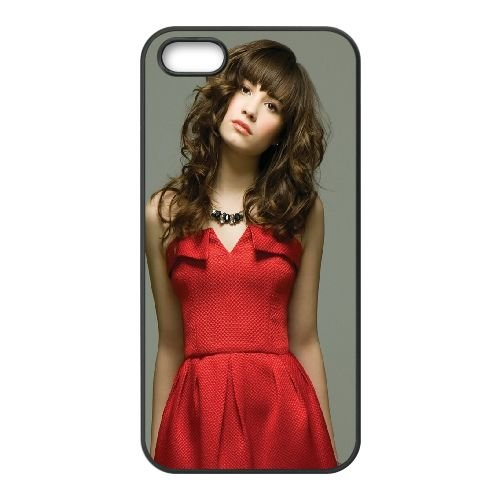 Demi Lovato Brunette Dress Grace Celebrity 36259 coque iPhone 5 5S cellulaire cas coque de téléphone cas téléphone cellulaire noir couvercle EOKXLLNCD23157