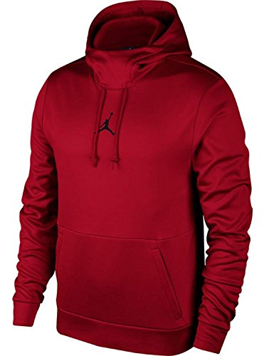 NIKE Mens Jordan Therma 23 Training Pull Over Hoodie Gym Red/Black 861559-687 Size Small by NIKE