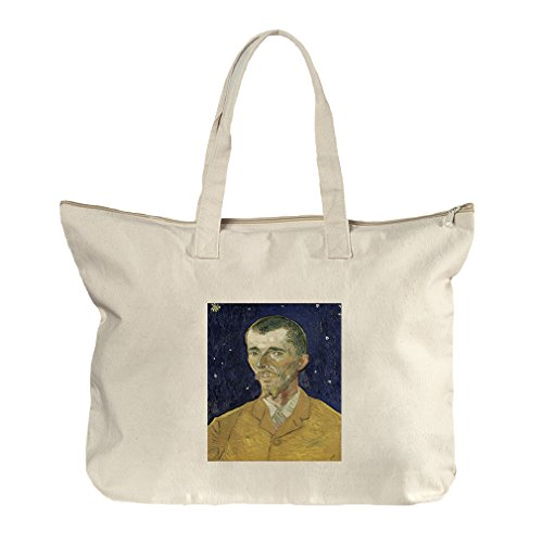 Eugene Boch (Van Gogh) Canvas Beach Zipper Tote Bag - Or Eugene Shopping In