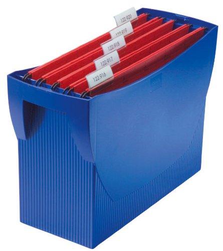 HAN 1900-14, Hängemappenbox SWING, Das mobile Büro. Innovatives Design für 20 Hängemappen, integrierter Köcher, blau