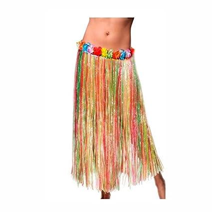 Falda Hawaiana Adulto Hula Multicolor (80 cm): Amazon.es: Juguetes ...