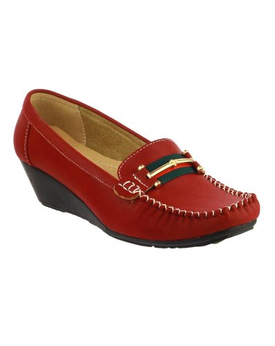 Sole Ladies On Amblers Comfortable New Foster Red Slip Shoes Footwear PU Women's nXOEwqAw