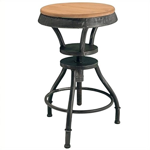 Cheap Noble House Trent Home 26″ Fortune Fir Top Adjustable Bar Stool in Natural Wood