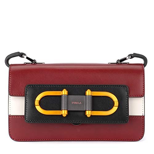 Crossbody FURLA for BELLARIA Bag Maroon White Black BQZ7 Womens wf7qfaX