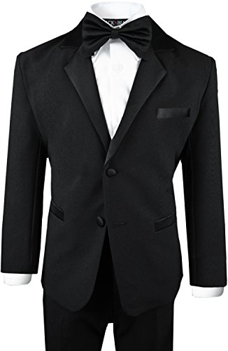 Boys Tuxedo in Black Dresswear Set Size 7