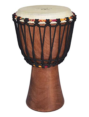 Tycoon Percussion TAJ-8 8 African Djembe with Goat Skin Head Natural Finish ()
