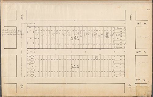 Map Poster - Central Park Planning Map No. 3: Bounded by 61st Street, 5th Avenue, 59th Street and 6th Avenue 18