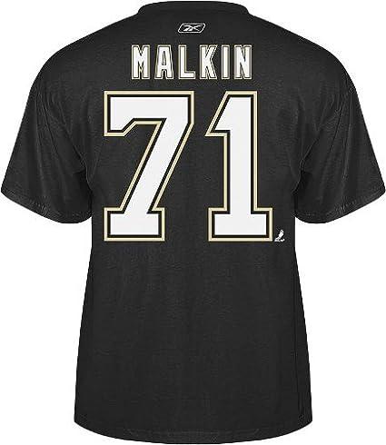 online store d8872 f29c6 adidas Evgeni Malkin Reebok Pittsburgh Penguins Premier Black Jersey  T-Shirt Men's