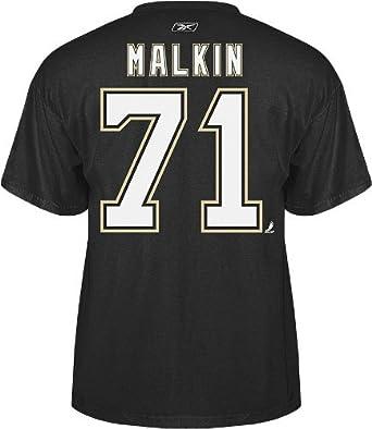 sale retailer 69905 25191 Evgeni Malkin Pittsburgh Penguins Reebok NHL Player Black T-Shirt
