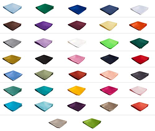 Authentic Jacob Alexander - Wholesale Lot of 10 Men's Solid Color Pocket Squares by Jacob Alexander