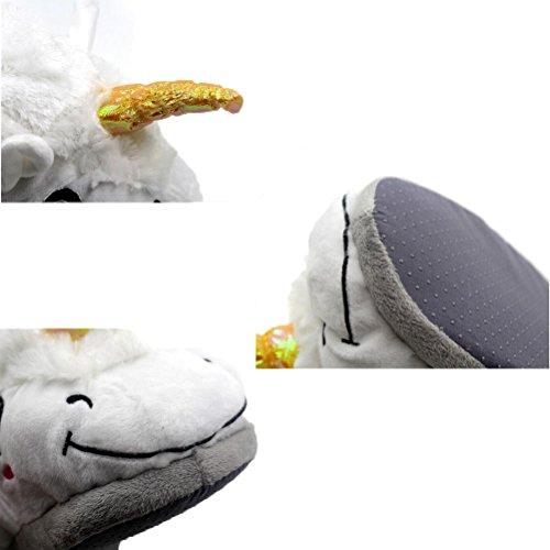 Vogstyle Plüsch-Hausschuhe Pyjamas Tier Onesie Body Nachtwäsche Kleid Overall Animal Sleepwear Erwachsene Art 1 Weiß