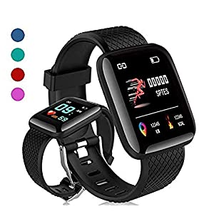 MARVIK Smart Band Fitness Tracker Watch Heart Rate with Activity Tracker Waterproof Body Functions Like Steps Counter, Calorie Counter, Blood Pressure, Heart Rate Monitor LED Touchscreen – Black