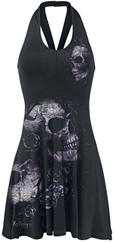 Alchemy Dead Kleid Schwarz Flowers England schwarz rwgYpFrx
