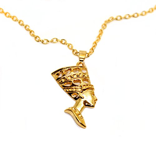 [Golden Nefertiti Egyptian Necklace] (Pharaoh Headdress)