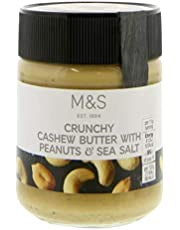 M&S Marks & Spencer Crunchy Cashew Butter with Peanuts & Sea Salt 227g