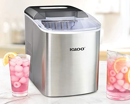 - Igloo ICEB26SS 26-Pound Automatic Portable Countertop Ice Maker Machine Stainless Steel