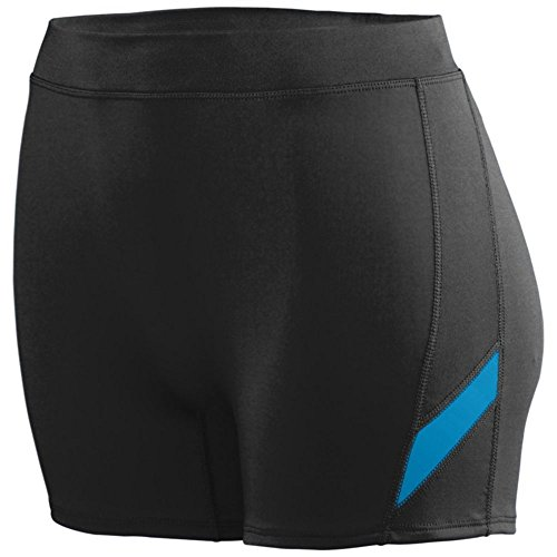 Augusta Athletic Ladies Stride Short, Black/Power Blue, X Large by Augusta Athletic
