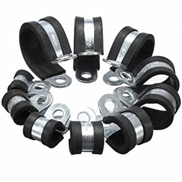 Caucho EPDM 6-25mm forrada p clip de pinza manguera de combustible cable de alambre: Amazon.es: Electrónica